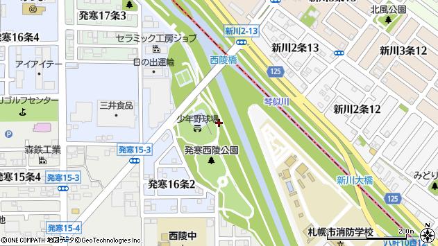 〒063-0836 北海道札幌市西区発寒十六条の地図