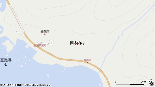 〒045-0205 北海道古宇郡泊村興志内村の地図