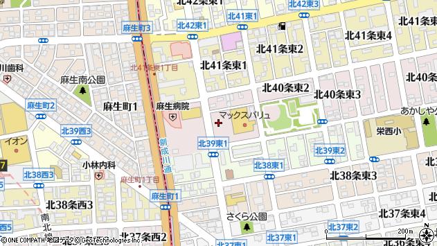 〒007-0840 北海道札幌市東区北四十条東の地図