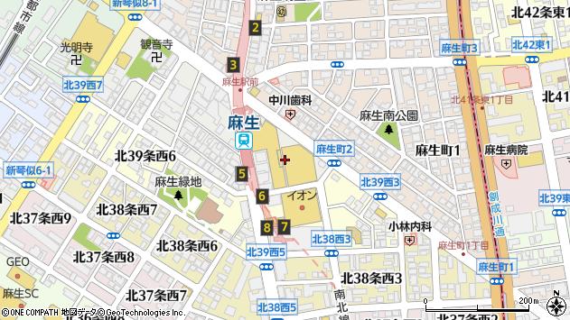 〒001-0040 北海道札幌市北区北四十条西の地図