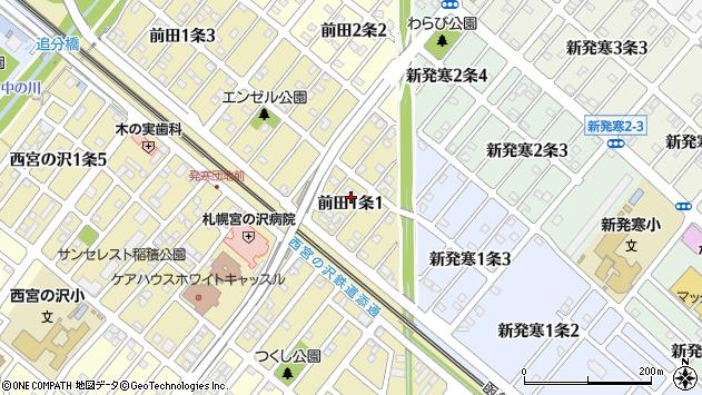 〒006-0811 北海道札幌市手稲区前田一条の地図