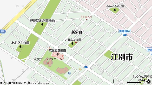 〒069-0806 北海道江別市新栄台の地図