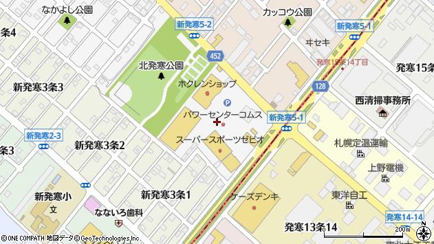 〒006-0804 北海道札幌市手稲区新発寒四条の地図