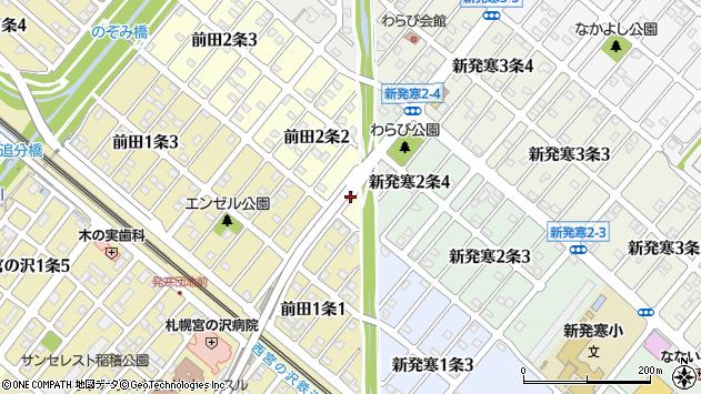 〒006-0812 北海道札幌市手稲区前田二条の地図