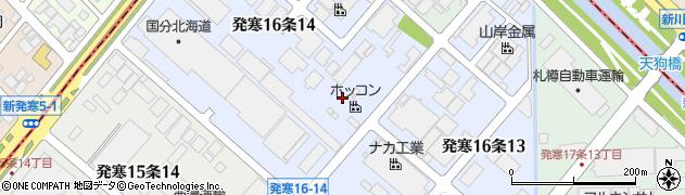 北海道札幌市西区発寒16条周辺の地図