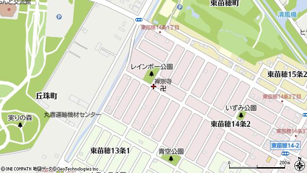 〒007-0814 北海道札幌市東区東苗穂十四条の地図