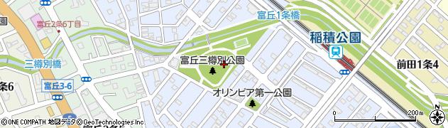 北海道札幌市手稲区富丘1条周辺の地図