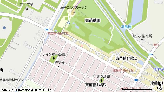 〒007-0815 北海道札幌市東区東苗穂十五条の地図