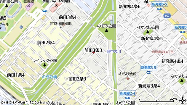 〒006-0813 北海道札幌市手稲区前田三条の地図