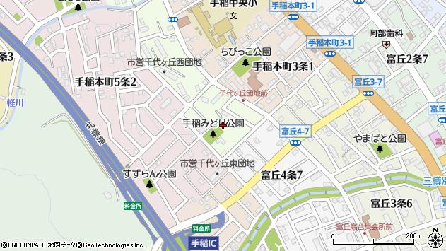 〒006-0024 北海道札幌市手稲区手稲本町四条の地図