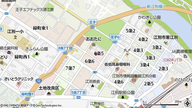 〒067-0016 北海道江別市6条の地図