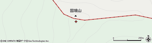 国境山周辺の地図