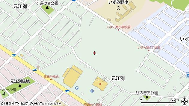 〒067-0032 北海道江別市元江別の地図