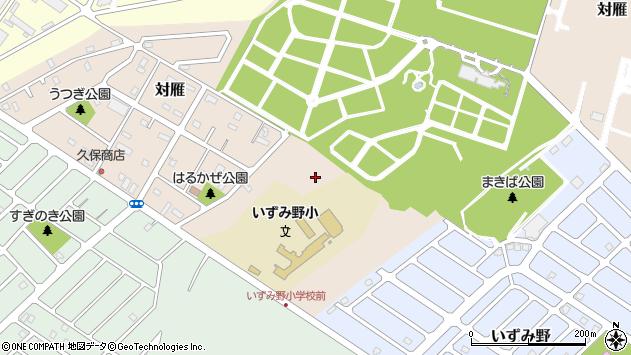 〒067-0033 北海道江別市対雁の地図