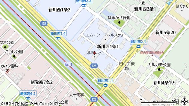 〒001-0931 北海道札幌市北区新川西一条の地図