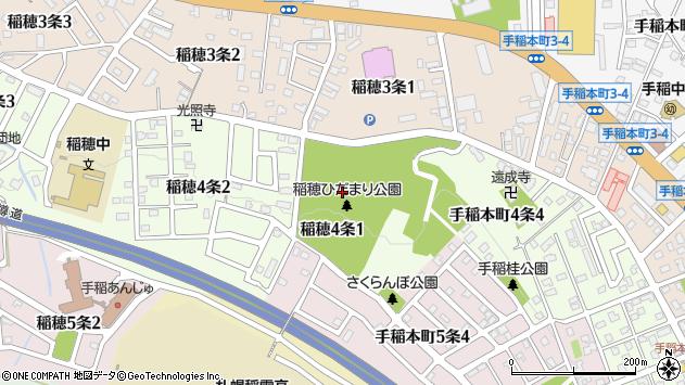 〒006-0034 北海道札幌市手稲区稲穂四条の地図