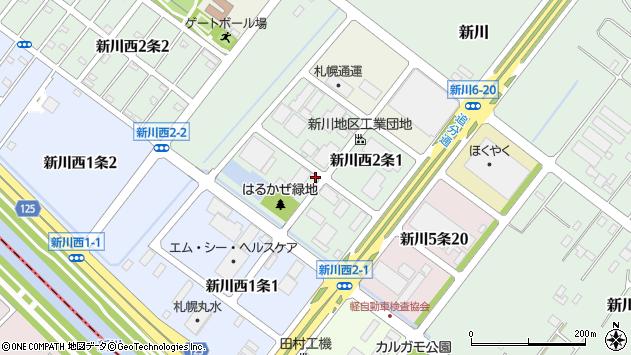 〒001-0932 北海道札幌市北区新川西二条の地図