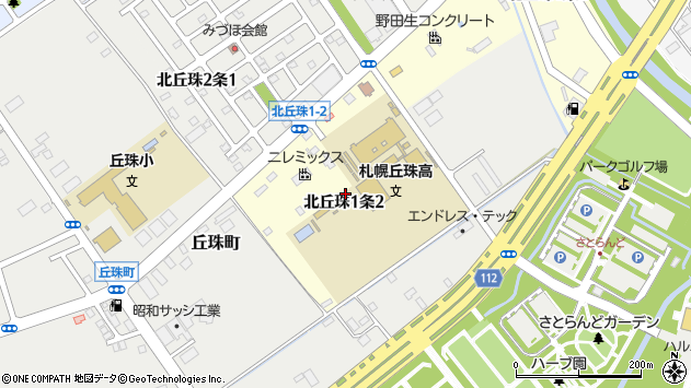 〒007-0881 北海道札幌市東区北丘珠一条の地図