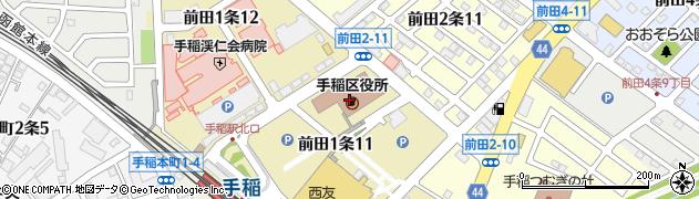 北海道札幌市手稲区周辺の地図