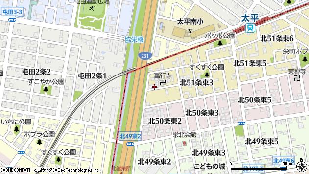 〒007-0851 北海道札幌市東区北五十一条東の地図