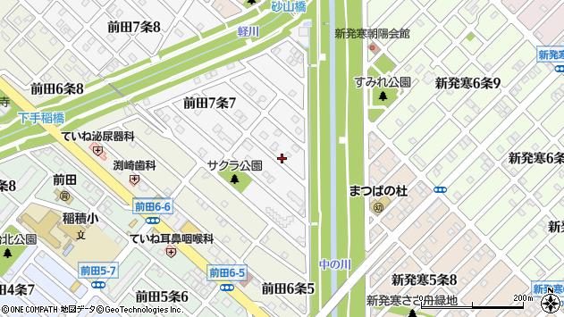 〒006-0817 北海道札幌市手稲区前田七条の地図