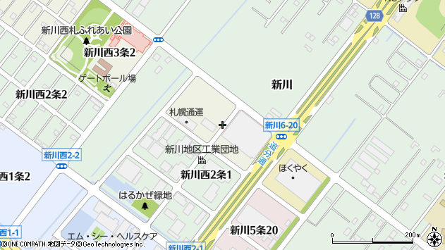 〒001-0933 北海道札幌市北区新川西三条の地図
