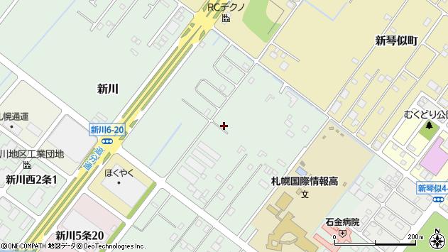 〒001-0930 北海道札幌市北区新川の地図