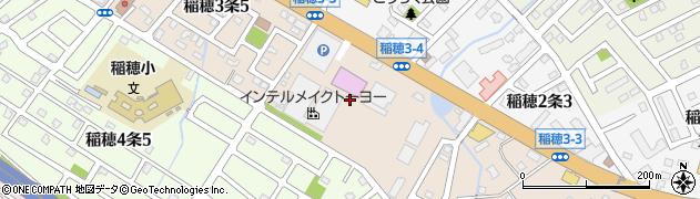 北海道札幌市手稲区稲穂3条周辺の地図