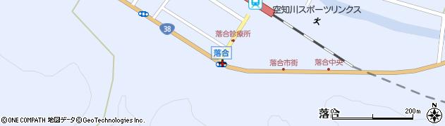 落合周辺の地図