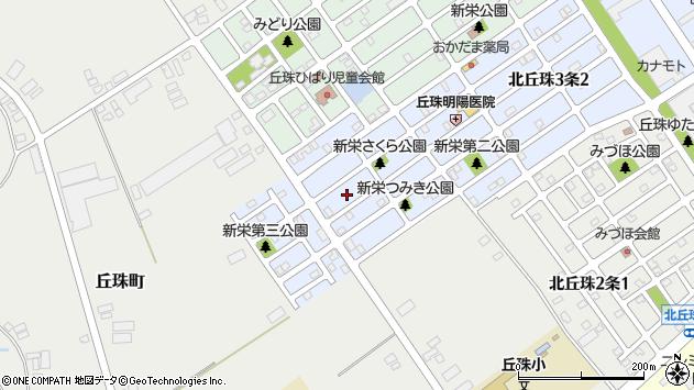 〒007-0883 北海道札幌市東区北丘珠三条の地図