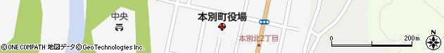 北海道中川郡本別町周辺の地図