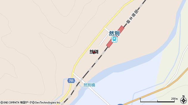 〒048-2403 北海道余市郡仁木町然別の地図