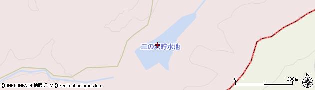 茂世丑二の沢貯水池周辺の地図