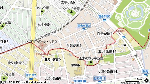 〒002-8081 北海道札幌市北区百合が原の地図