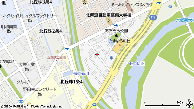 〒007-0891 北海道札幌市東区中沼西一条の地図