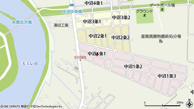 〒007-0001 北海道札幌市東区中沼一条の地図