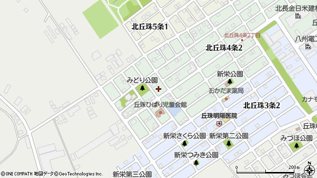 〒007-0884 北海道札幌市東区北丘珠四条の地図
