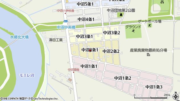 〒007-0002 北海道札幌市東区中沼二条の地図