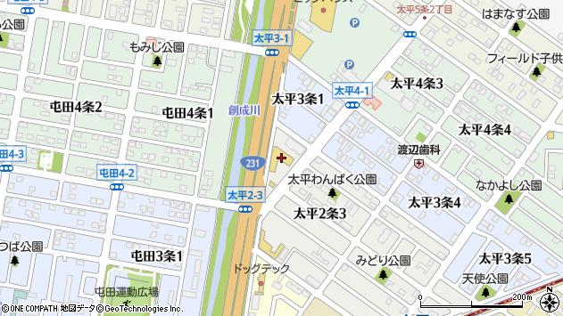 〒002-8002 北海道札幌市北区太平二条の地図