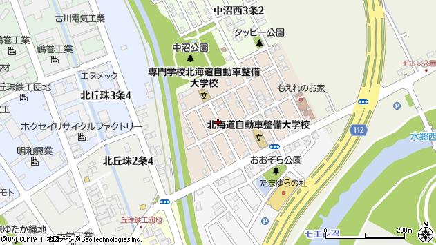 〒007-0892 北海道札幌市東区中沼西二条の地図