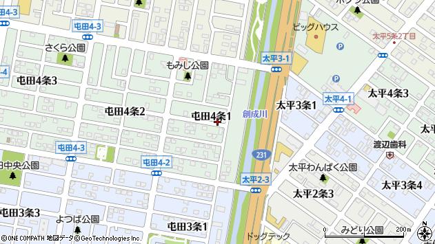 〒002-0854 北海道札幌市北区屯田四条の地図