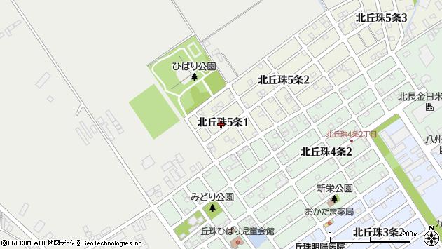 〒007-0885 北海道札幌市東区北丘珠五条の地図