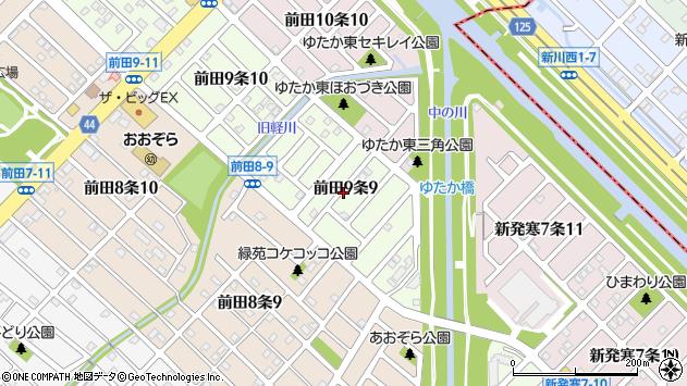 〒006-0819 北海道札幌市手稲区前田九条の地図