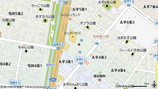 〒002-8004 北海道札幌市北区太平四条の地図