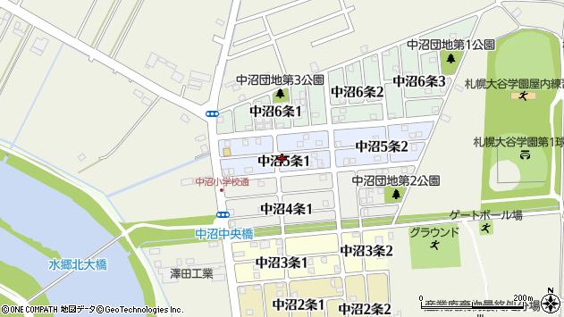 〒007-0005 北海道札幌市東区中沼五条の地図