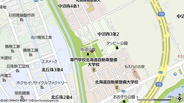 〒007-0893 北海道札幌市東区中沼西三条の地図