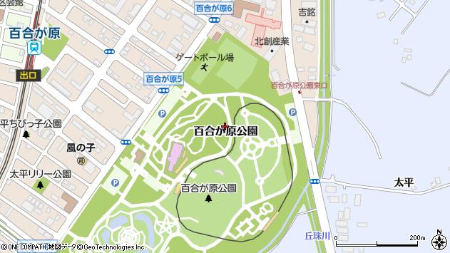 〒002-8082 北海道札幌市北区百合が原公園の地図