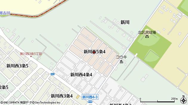 〒001-0935 北海道札幌市北区新川西五条の地図