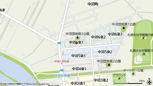 〒007-0006 北海道札幌市東区中沼六条の地図