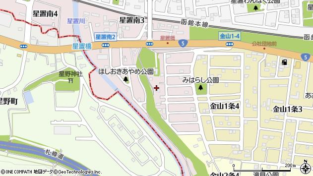 〒006-0050 北海道札幌市手稲区星置南の地図